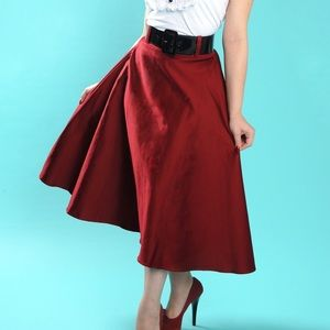 Pinup Couture Doris skirt in Burgundy